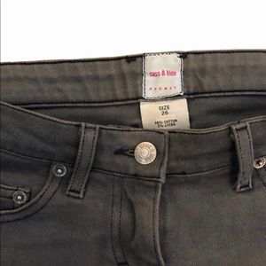 SASS & BIDE Brand grey slim low-rise jeans